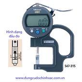 Thước đo độ dày rãnh điện tử 547-315 (0-10m/0.01mm)